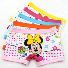 5 pcs/lot Childrens cotton underwear female cartoon printed baby girls boxer briefs panties