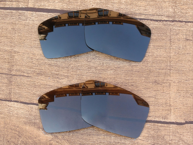 f552671f3ad Black Grey   Copper Brown 2 Pairs Polarized Replacement Lenses For Twitch  Sunglasses Frame 100%
