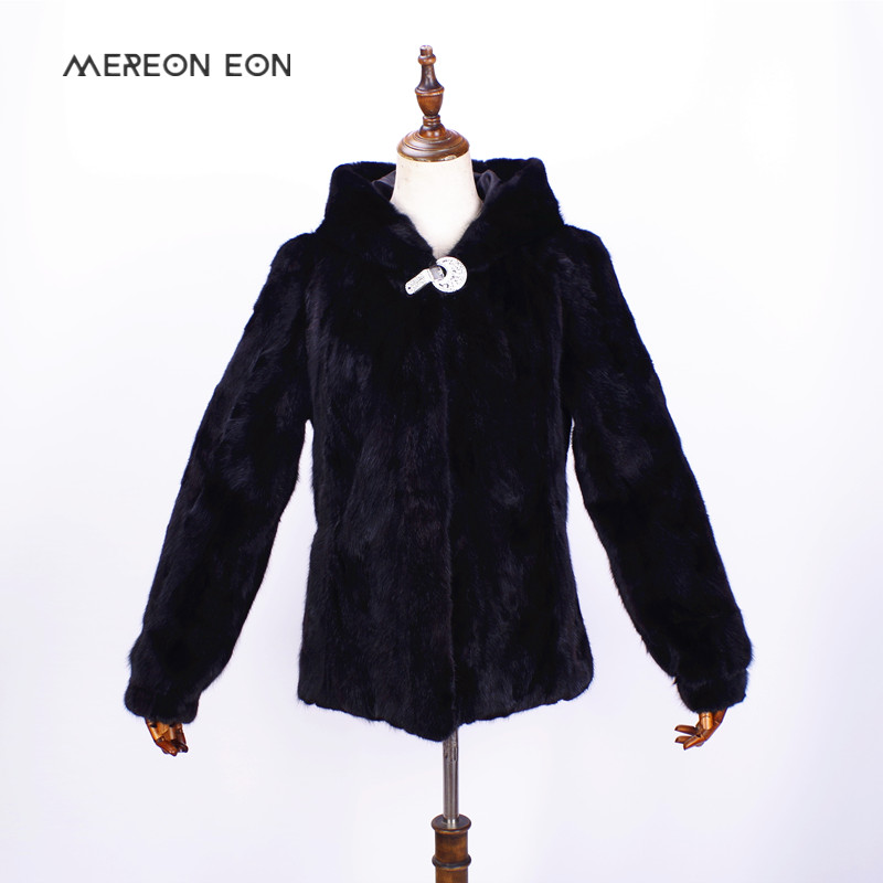 2018 high end women s winter mink fur hooded fur coat real mink fur natural stitching