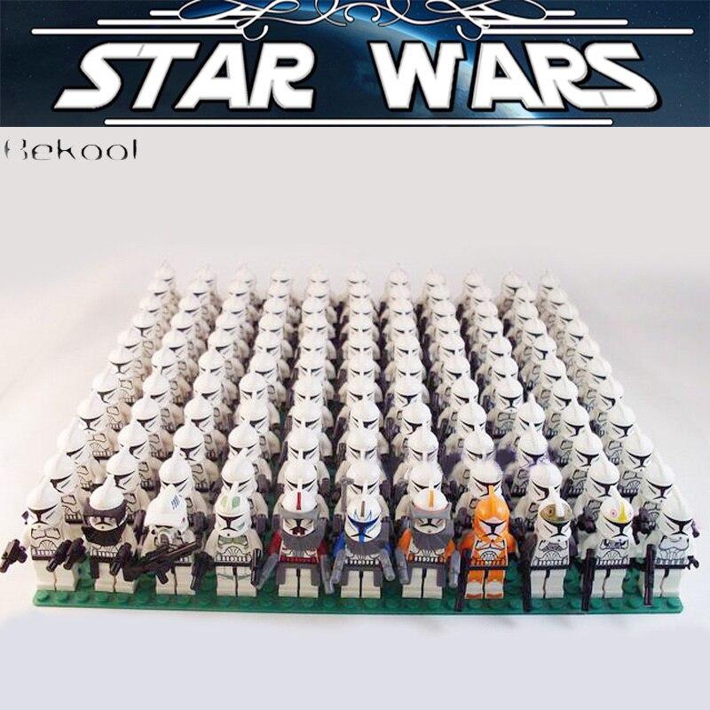 21PCS STAR WARS Clone Trooper Rex Commander Fox Wolf swith weapon Compatible legoes Rebels Imperial Building block Mini KidS toy giocattoli di star wars