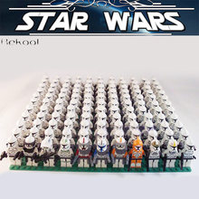 STAR WARS Rex Commander Clone Trooper Fox Wolf swith Compatible brick Rebels Imperial sw442 Building blocks toy 21PCS(China)