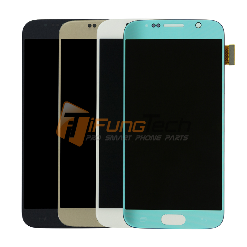 3pcs/lots Original For Samsung S6 Lcd Display Touch Screen Digitizer G9200 White Blue Gold Color Free Shipping
