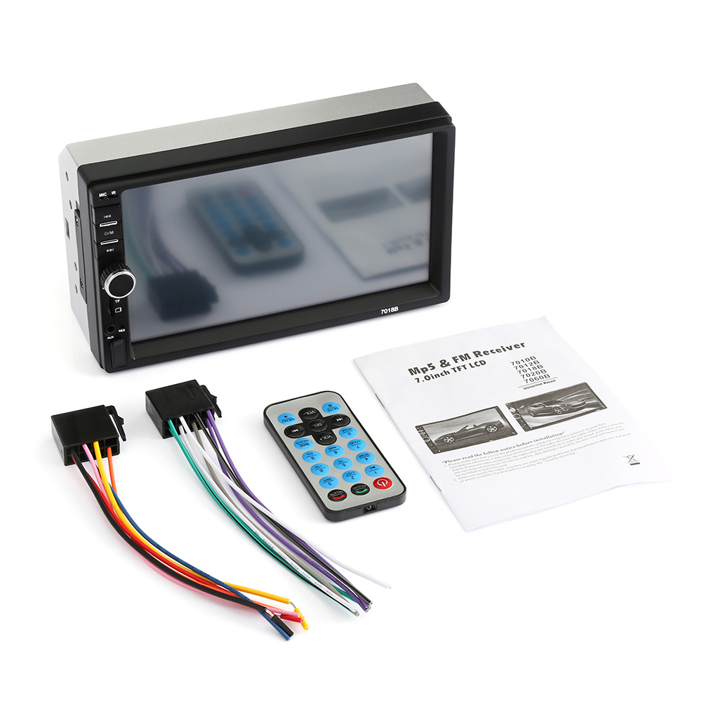 2 Din Car Radio Bluetooth Car Audio 7'' Touch Screen Car Music Video Player Support Rear View Camera AUX TF Card Audio Player