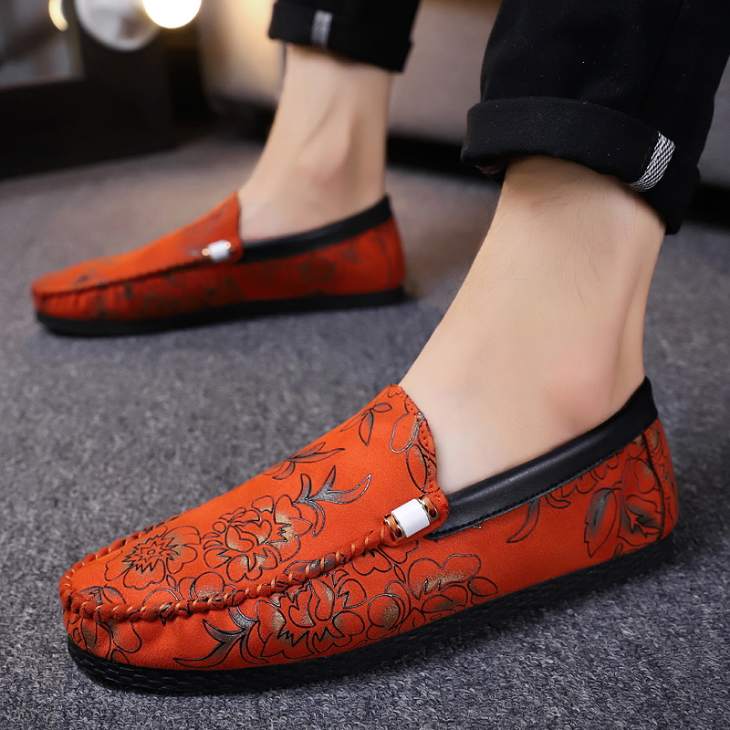 Soft Leather Men Loafers New Handmade Casual Shoes Moccasins For Flat  5