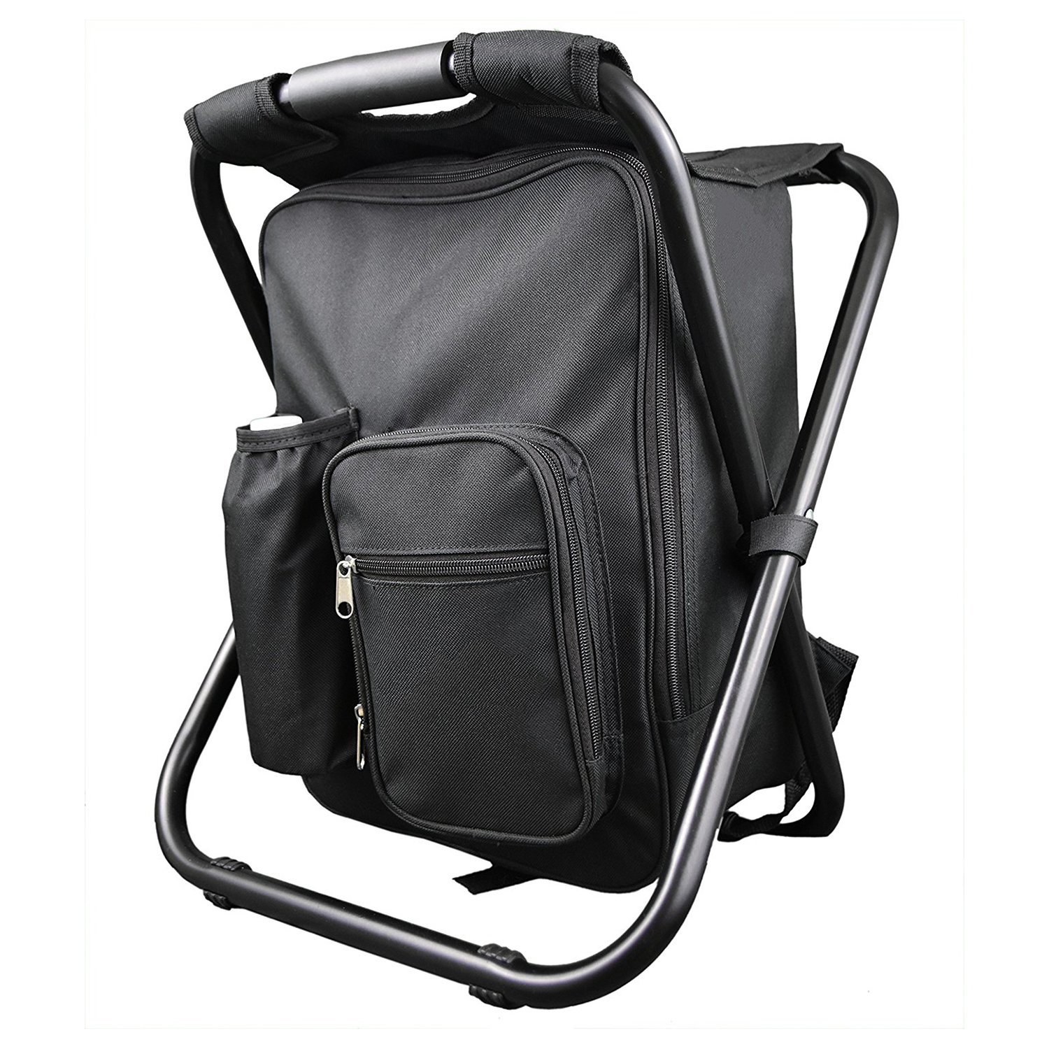 Hot Sale Backpack Chair Portable Camping Stool Foldable Chair with Double Layer Oxford Fabric Cooler Bag for Fishing Camping H fishing chair backpack camouflage oxford cloth large capacity fishing bag portable foldable stool fishing tackle tool chair bag