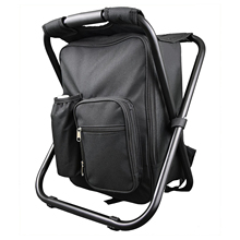 Hot Sale Backpack Chair Portable Camping Stool Foldable Chair with Double Layer Oxford Fabric Cooler Bag for Fishing Camping H