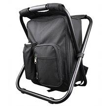 Sıcak satış sırt çantası sandalye taşınabilir kamp taburesi katlanabilir sandalye ile çift katmanlı Oxford kumaş soğutucu çanta balıkçılık kamp için H