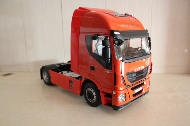 RARE 1:12 Scale Iveco Stralis Hi-Way Heavy Truck Trailer  Models Car Toys Limited Edition Hobbies Collection the original saic iveco hongyan jie lion iveco flag changtour version 1 24 tractor truck model page 7
