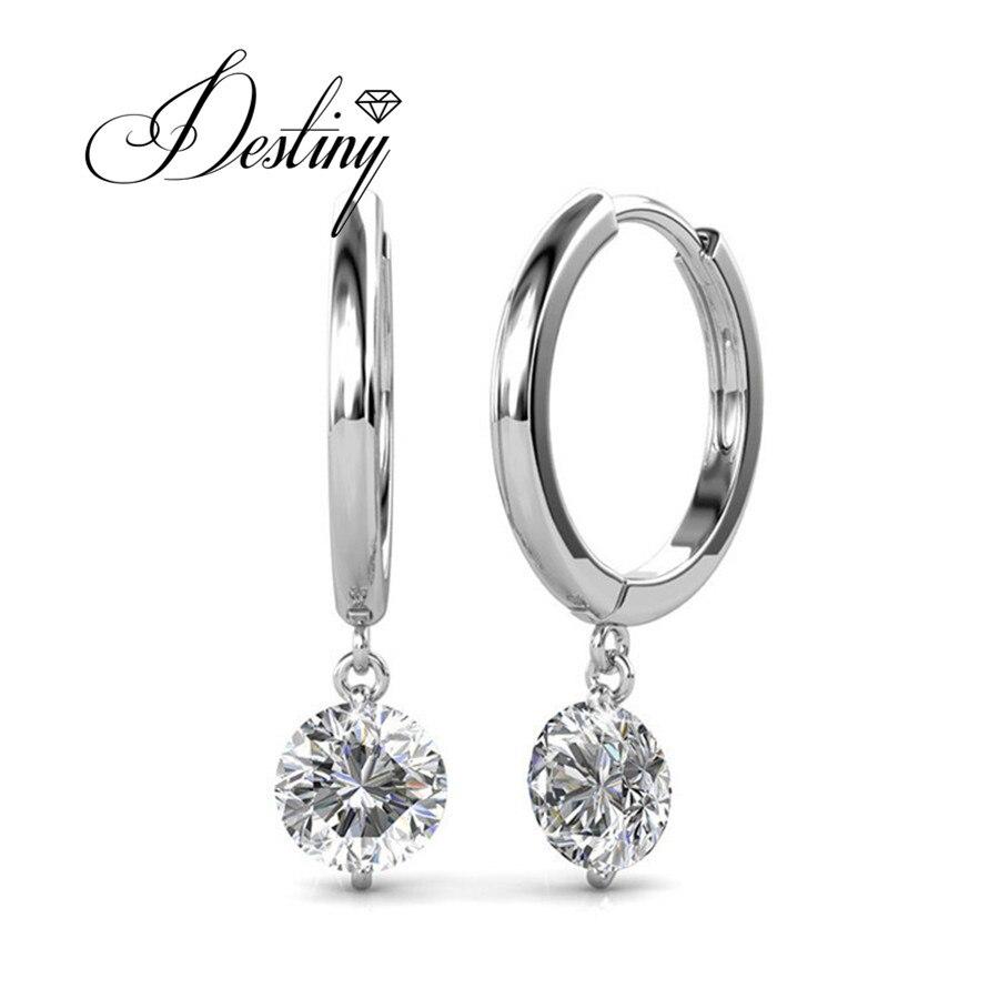 Destiny Jewellery Single Stone Earring Designs Embellished With Crystals  From Swarovski Earrings Grace Mans Earrings De0228