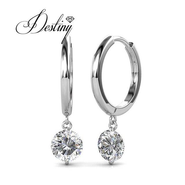 Destiny Jewellery Single Stone Earring Designs Embellished With Crystals From Swarovski Earrings Grace Mans De0228