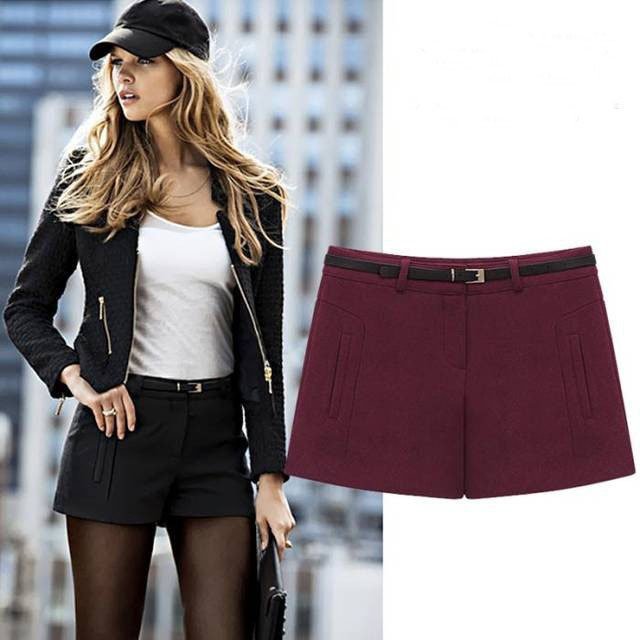 37d236fc2542bf Free Shipping New Women's Autumn And Winter Fashion Simple Wild Woolen  Boots Shorts Wholesale