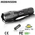 Led Flashlight CREE Lanterna Torch Flash Light E17 XM-L T6 Zoomable Tactical Flashlight Rechargeable AAA or 18650 Battery Lights