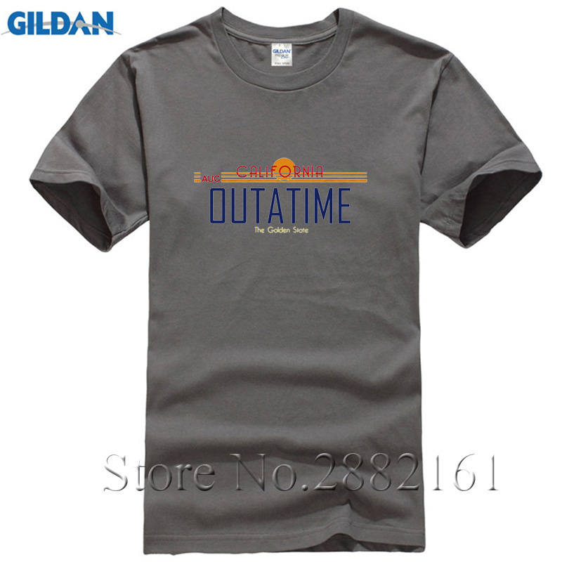 Back to the Future t shirt Movie California License Plate OUTATIME t-shirt 2017 for man Aug 86 T-Shirt m-3XL Free Shipping