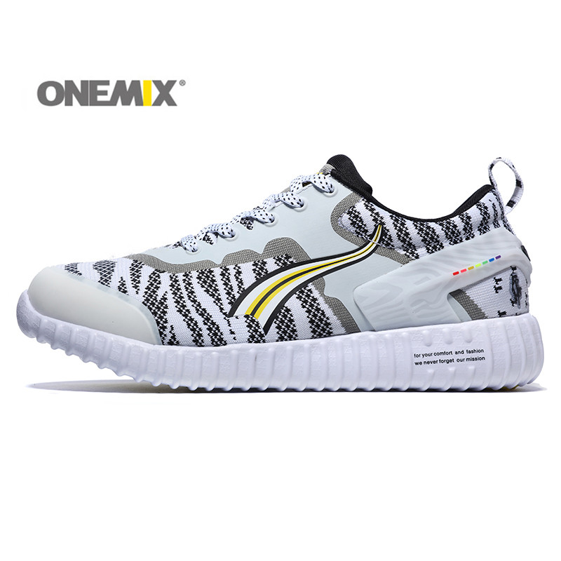ФОТО Onemix Men Breathable Outing Running Shoes Women Deodorizing Mesh Cozy Jogging Sports Lovers Running Sneaker for Outdoor Walking