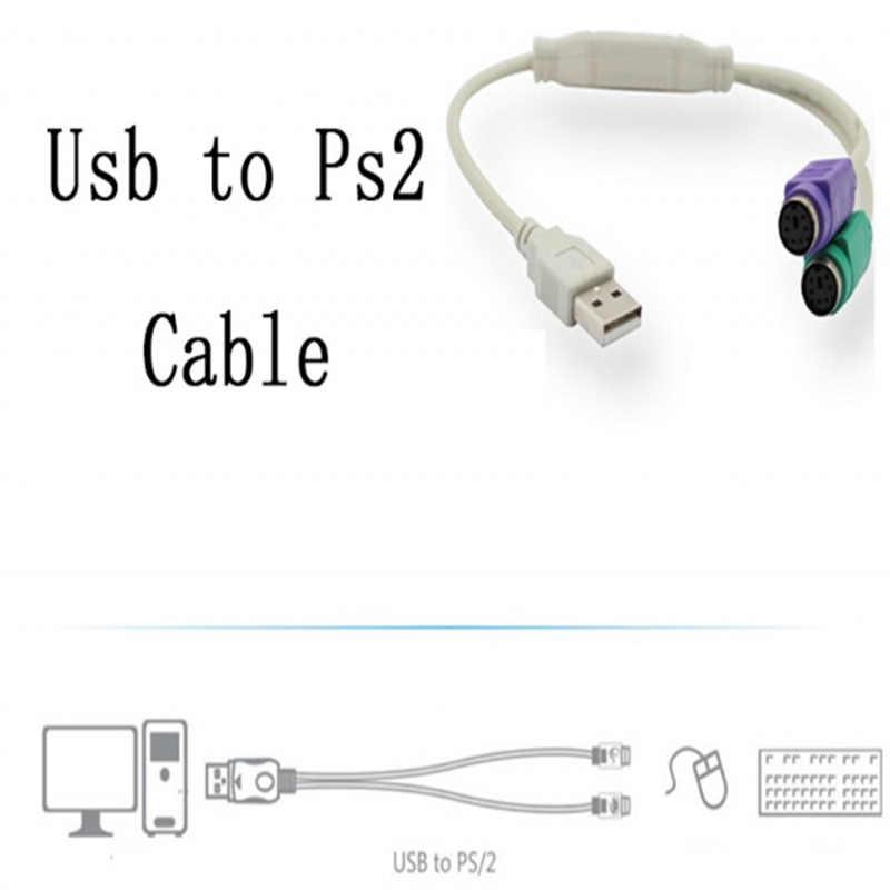 1 ADET USB Erkek PS/2 PS2 Dişi dönüştürücü kablosu Kablosu Dönüştürücü Adaptör Klavye