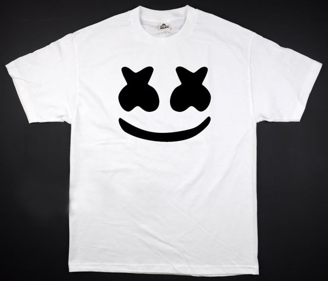 6b14ee1434f Marshmello Face - T-Shirt White Vegas Rage DJ Club Plur Edm Edc All Sizes  S-2XL 100% Cotton Print Mens Summer O-Neck T Shirt