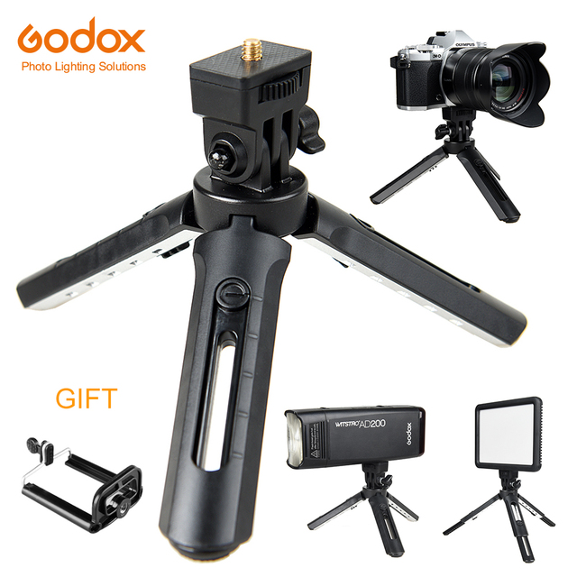 Godox MT 01 Tripod with Holder Mount Selfie Portable Camera Tabletop Travel Tripod for Smirrorless Camera,LED Video Light ,AD200