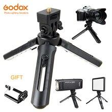 Godox MT 01 tripé com suporte de montagem selfie portátil câmera de mesa tripé de viagem para câmera smirrorless, luz de vídeo led, ad200