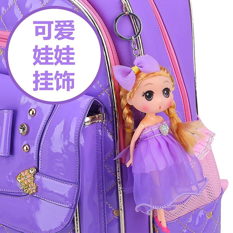 2018 children school bags girls orthopedic schoolbags princess school backpacks kids primary school backpacks mochila infantil
