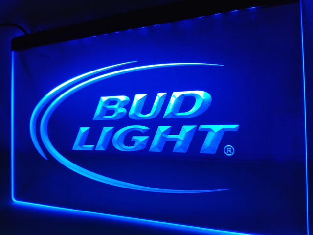 LE003- Bud Lite Beer Bar Pub Club Logo LED Neon Light Sign