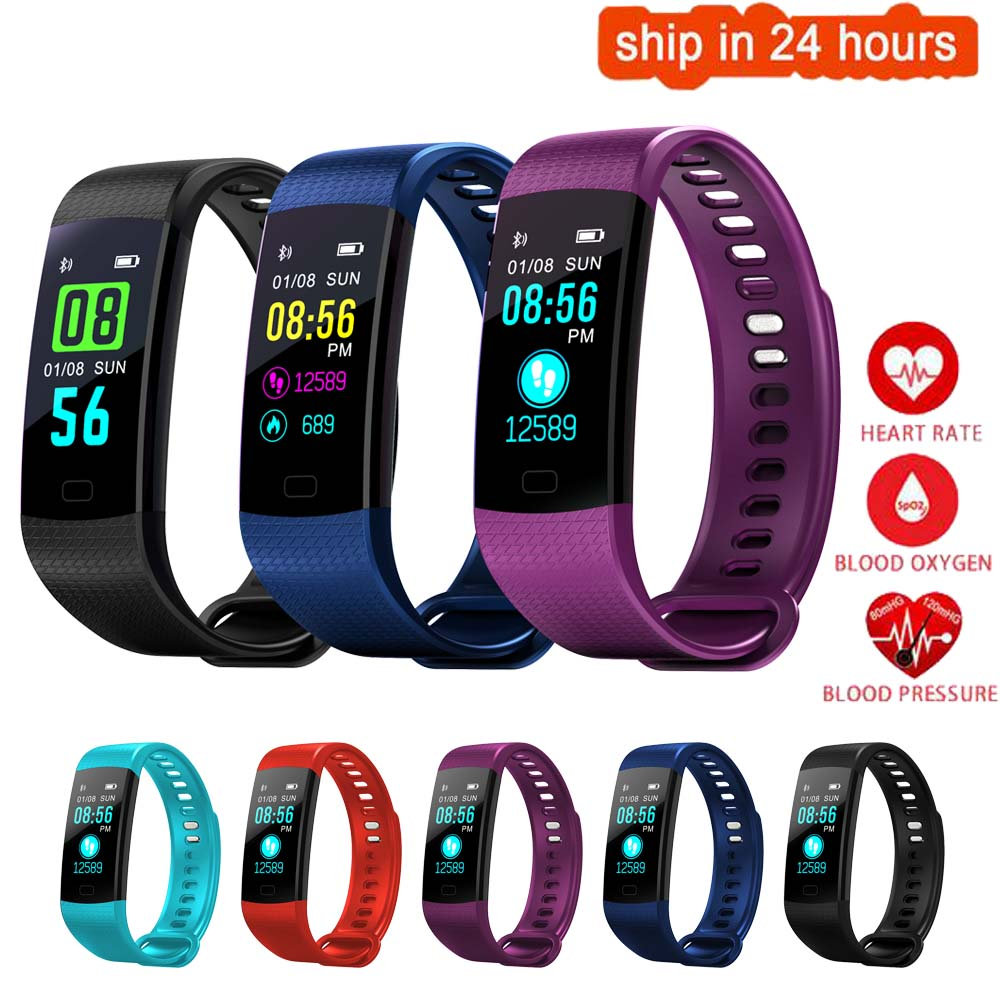 K33 Color Screen Smart Wristband Sports Bracelet Heart Rate Blood Pressure Oxygen Fitness Tracker for VIVO X7 Plus Xplay6 Xplay5