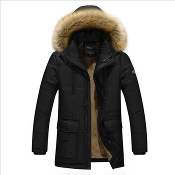 Men's Winter Warm Parkas Jackets Mens New Fashion Casual Large Size Loose Multi-pocket Long section Jcakets Cotton Coat Jackets