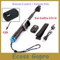 Для GoPro Дистанционного Телескопическая Полюс 33-99 см монопод штатив + Пульт Дистанционного Управления + Силиконовый Чехол Для GoPro Сессии Hero 5 4 3 + 3 Аксессуары