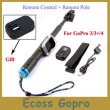 Buy online For GoPro Remote Telescopic Pole 33-99cm monopod tripod+ Remote Control+Silicone Case For GoPro Session Hero 5 4 3+3 Accessories