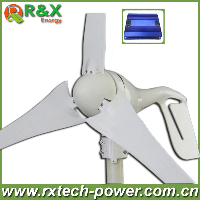 Small home wind turbine generator 12V/24V optional wind generation, 400W wind power generator with wind controller.