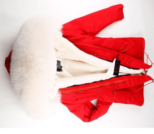 MMK brand parka long new winter jacket women parkas real fur coat real fox fur collar warm thick faux fur inside big fur