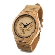 БОБО ПТИЦА F28 Античная Luxury Brand Design мужские Деревянные Часы с Натуральной Кожи Планки Zingana Кварцевые Часы для Мужчин коробки