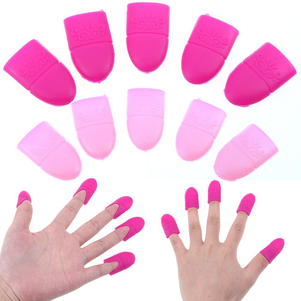 10 Unids / lote Silicona Nail Gel Removedor de Esmalte Tapas Soaker DIY Manicura Nail Art UV Gel Consejos de Eliminación de Esmalte Soak off Cap Covers