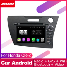 ZaiXi android car dvd gps multimedia player For Honda CR-Z CRZ 2010~2016 car dvd navigation radio video audio player Navi Map