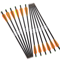 17 20 Inches Fiberglass Crossbow Arrows With Diameter 8mm Outer Type Tips Crossbow Bolts 6 Or