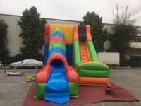 Hot sale outdoor movable giant inflatable dry slide for amusement park