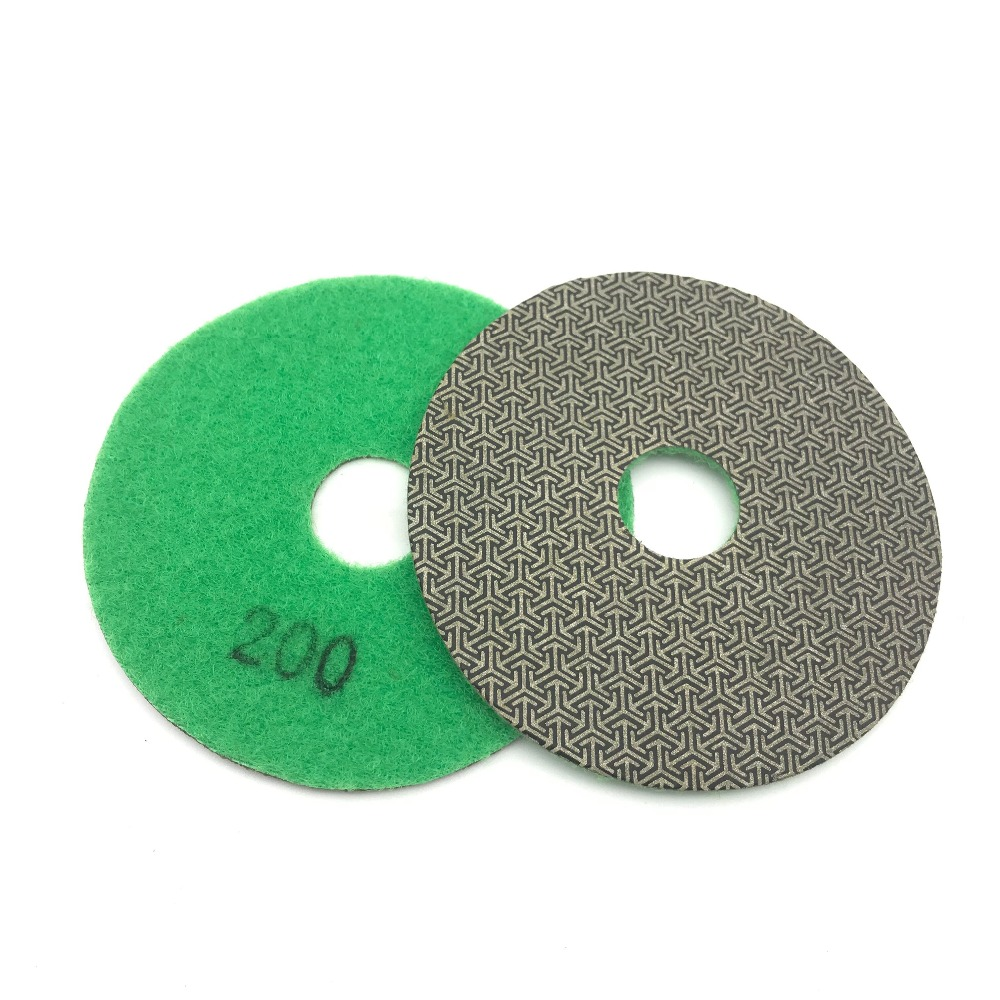 Electroplated Diamond Polishing Pad Glass Concrete Stone Wet Dry Sandpaper for Glass Concrete Marble Stone Granite Sanding (2)