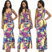 Summer new popular Southeast Asian fashion personality hollow V-neck zipper sexy print womens dress