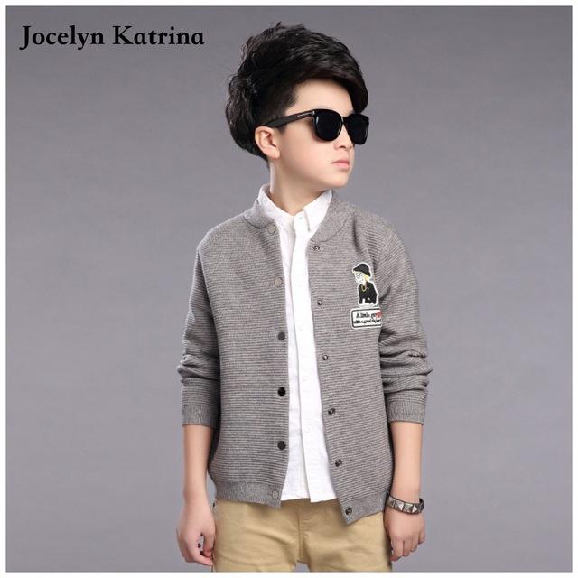 Jocelyn Katrina crianças outwear meninos roupas cardigan meninos blusas de design da marca de moda casual outono inverno crianças camisola