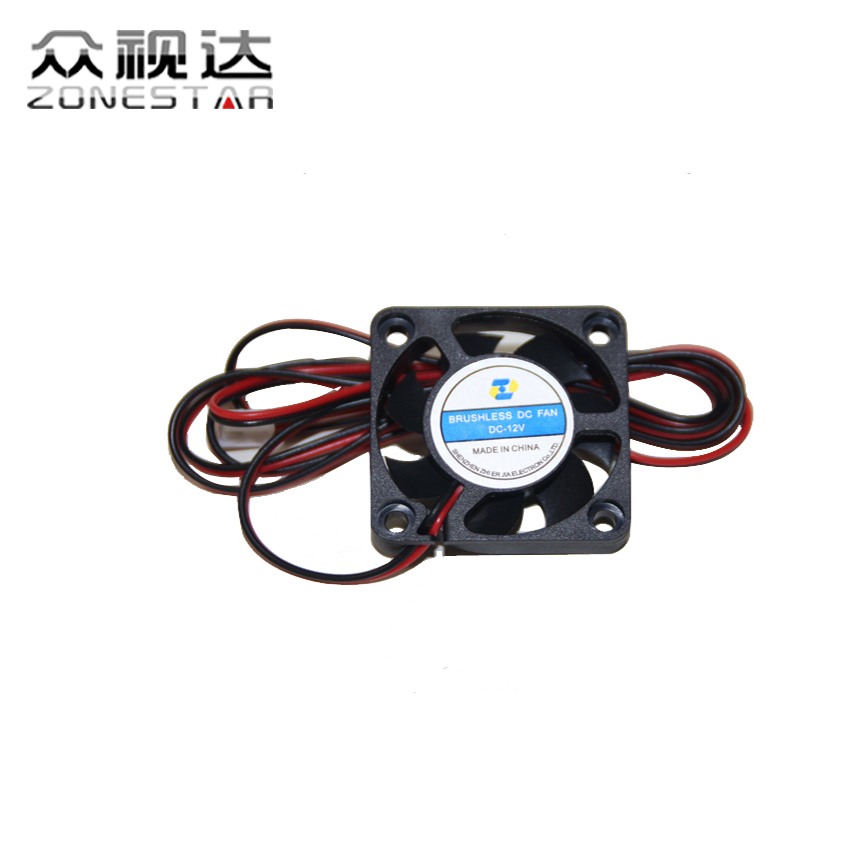 3D Printer DIY Kit FAN 4010 RepRap 3d-printer Size 40X40X10mm 12V 0.11A Black color 2 Pin 2.54mm connector 1m  wire ZONESTAR