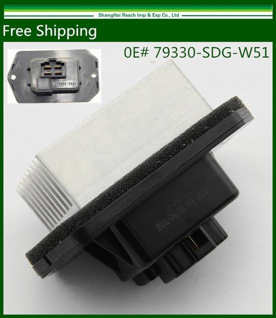 Free Shipping New HVAC Blower Motor Resistor For Honda Pilot Acura / 79330-SDG-W51