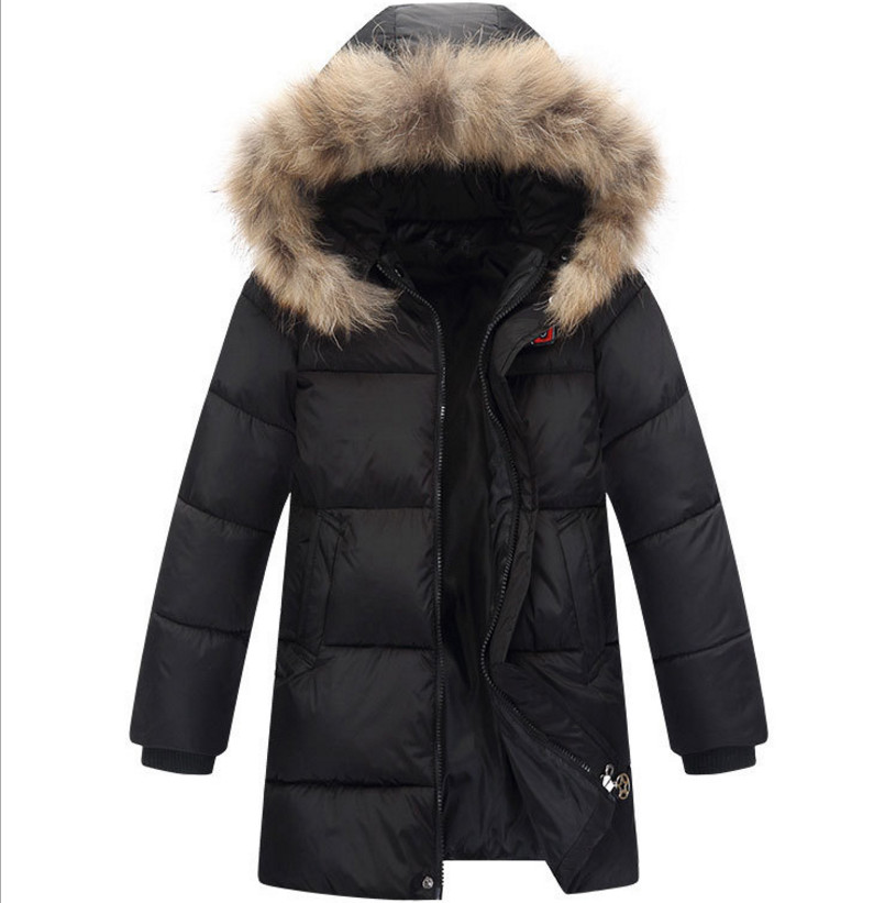 2017 Boys Parkas Coat Children Clothes Fashion  Outerwear Hooded Jacket For Winter Color Gray / Black / Orange children winter coats jacket baby boys warm outerwear thickening outdoors kids snow proof coat parkas cotton padded clothes