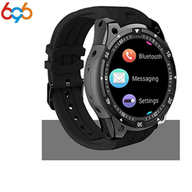 696X100 Bluetooth Intelligente Orologio frequenza cardiaca Lettore Musicale Facebook Whatsapp Sync SMS wifi 3G Per Il GPS Della Vigilanza Smartwatch Per IOS PK Q1