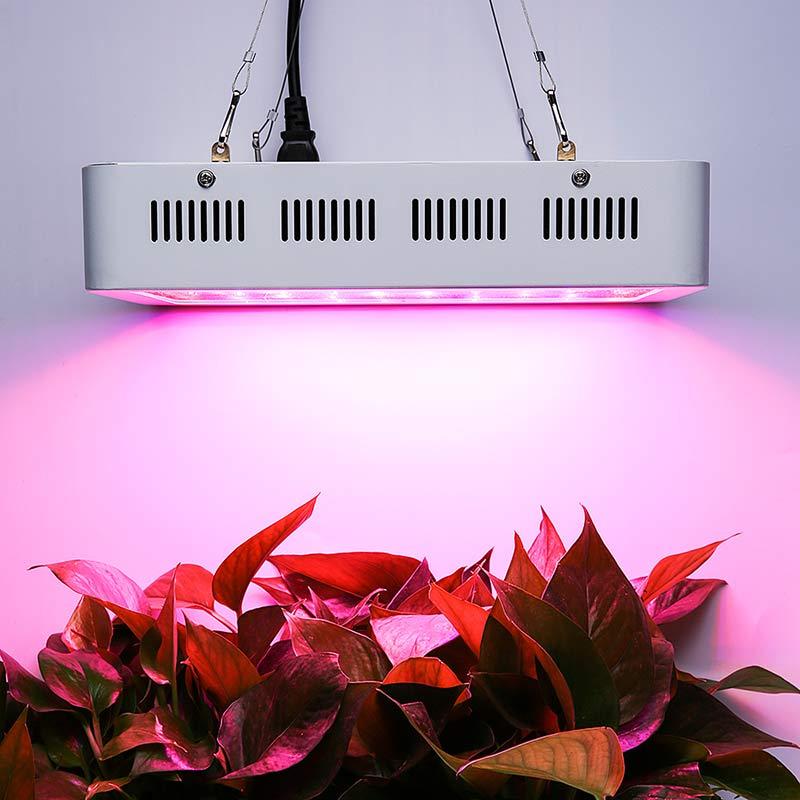 400W Full Spectrum 400 LEDs Plant Grow Light Vegetable Bloom Lamp for Indoor Medical Garden AC 85V-265V EU/US/AU/UK Plug --M25 t8 28w 90cm ac vegetable grow light tube 1pc retail for organic farming indoor full spectrum 380 780nm
