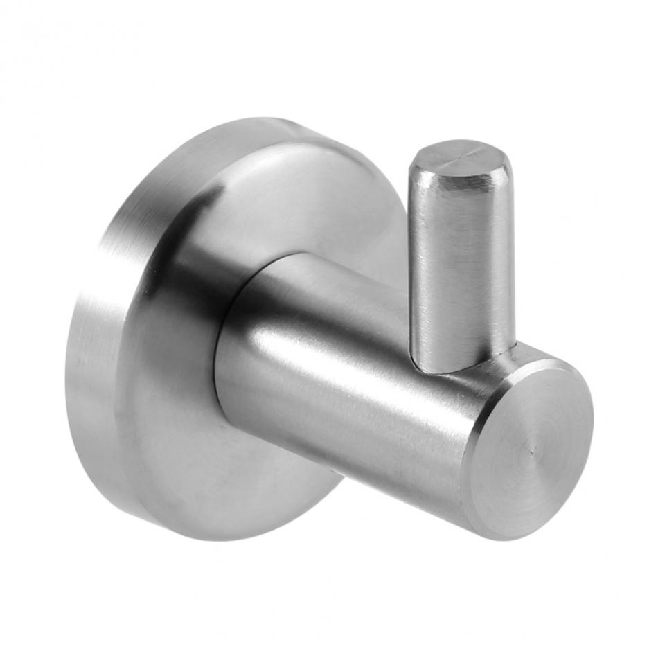 4Pcs Stainless Steel Bathroom Single Hat Robe Coat Clothes Towel Wall Mount Hook