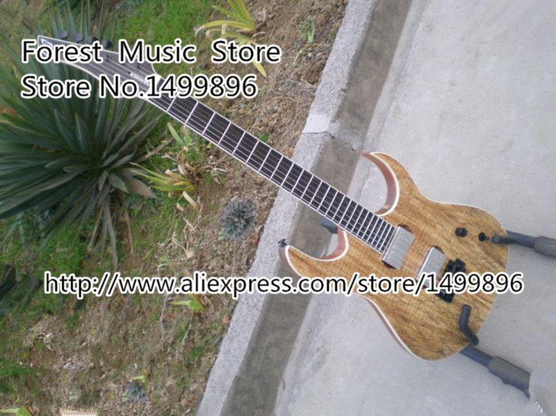 High Quality Nature Wood Earth Grain Maple Finish Custom Electric Guitar China OEM Left Handed Available 100% real pictures nature wood finish ymh sg custom electric guitars chinese oem push pull pot guitar for sale