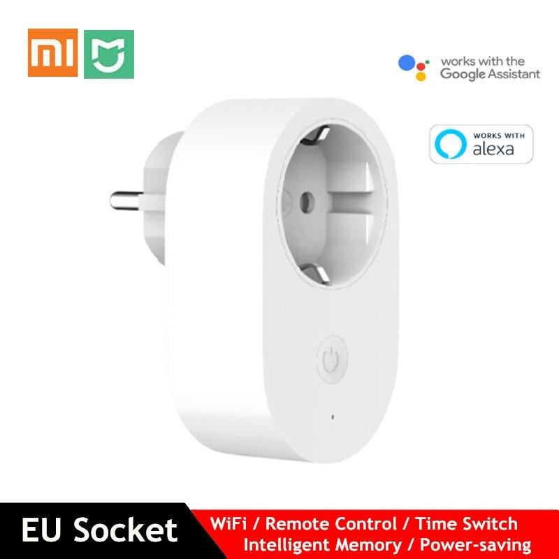 Xiaomi Mijia UE Tomada Inteligente WiFi Memória Power-saving Tempo Interruptor Inteligente de Controle Remoto Funciona com O Google assistente Alexa