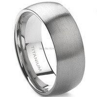 Men 8MM Titanium Plain Ring Black SZ 7 8 9 10 11 12 13 14 15