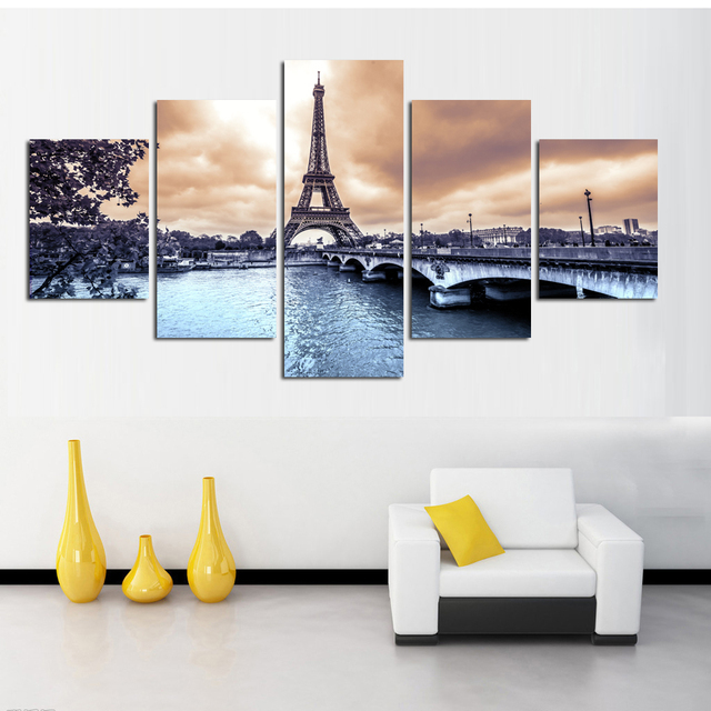 HD Printed The European cities construction scenery Painting room ...
