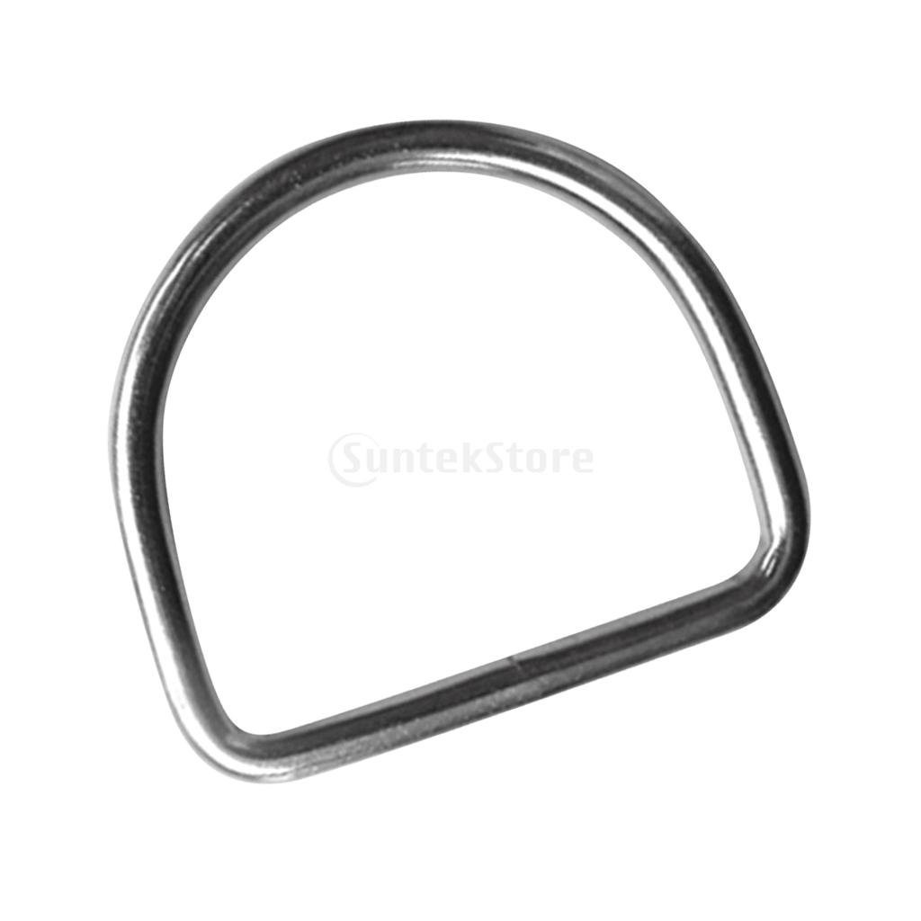 316 Stainless Steel Scuba Diving D Ring For 5cm Weight Belt Webbing Climbing Harness Bags Backpack Gear Accessories Buckle Hook