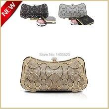 Exklusive Auswahl Tag Kupplungen Luxus gold fest clutch tasche hard case designer handtasche vintage mini frauen tasche #0920
